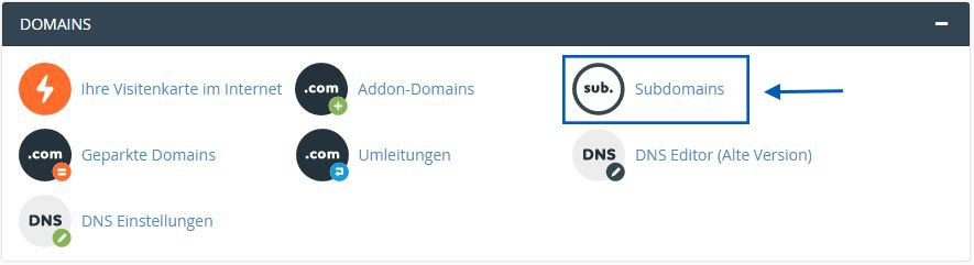 CPanel Domains